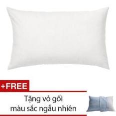 Gối ngủ (40x60cm), gòn nhân tạo, hàng VN cao cấp + tặng vỏ gối cùng size.