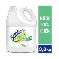 Nước rửa chén Sunlight Thiên nhiên Trắng can 3,8kg