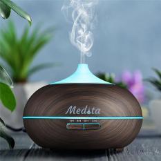 Medita Wood – Máy Khuếch Tán Tinh Dầu, Máy Xông Tinh Dầu, Máy Phun Sương TẶNG 1 Lọ Tinh Dầu Sả Chanh