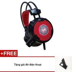 Tai nghe cho game thủ WangMing WM8900 có míc (đen – tặng giá đỡ điện thoại)