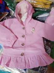 áo khoác kaki bé gái màu hồng