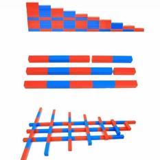 Đồ chơi giáo dục gậy số xanh đỏ môn toán học Montessori( dài 50cm)