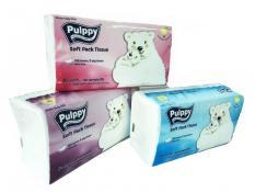 Combo 3 Gói Khăn giấy rút Pulppy 180 tờ ( 2 lớp)
