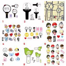 Sticker 3D Wanna One, BTS, BT21, GOT7, EXO dán điện thoại máy tính