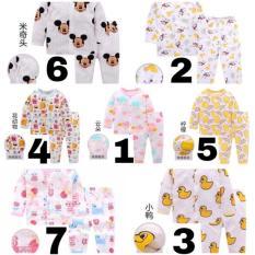 [Chọn mẫu – Đủ size] Bộ cotton giấy hàng xuất Nhật cho bé [sz 66-100 tương ứng 5-13kg], Size90,4 Gấu (hàng chất lượng cao)