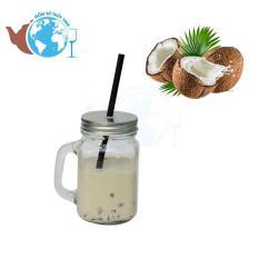 Ly Quai Thuỷ Tinh Uống Trà Sữa 450ml Có Nắp