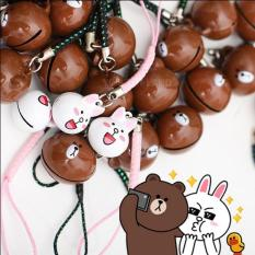 Combo Móc điện thoại thỏ cony và gấu brown – K8546