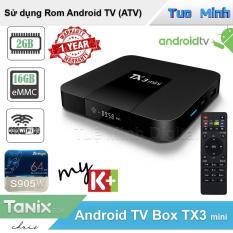 Android Tivi Box TX3 mini 2021 – BH 1 năm – 2G Ram và 16G bộ nhớ trong – AndroidTV MyK+