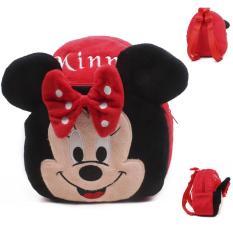 Balo vải cho bé hình chú chuột mickey minnie màu đỏ