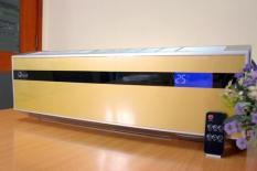 Máy sưởi điều hòa treo tường Ceramic FujiE CH-2500 ,điều khiển từ xa 3 chế độ mát, ấm, nóng sử dụng phòng dưới 35m2