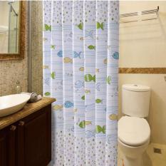 Rèm Cửa Nhà Tắm Hình Con Cá 1.8x2m GD0100a