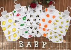 Set 5 bộ cotton in hình cho bé trai- bé gái
