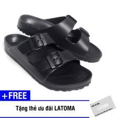 Dép nam quai ngang thời trang cao cấp Latoma TA1251 (Đen)+ Tặng kèm thẻ ưu đãi Latoma