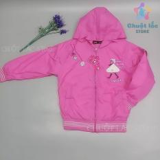Áo khoác trẻ em, áo khoác bé gái dù 2 lót bông size đại cho bé từ 25kg đến 35kg (màu hồng, tím)