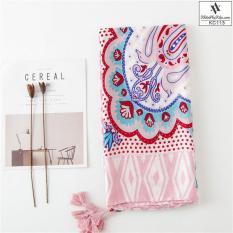 Khăn Choàng Cổ Họa Tiết Thổ Cầm Hồng – Cotton Viscose – 180x90cm – Mã KC113