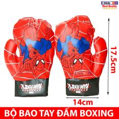 Bộ 2 Găng Tay Đấm Boxing Bằng Da Mềm – Bao Tay Đấm Bốc Người Nhện