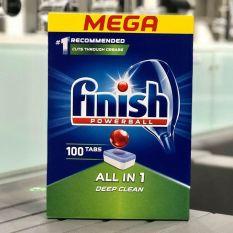 Viên rửa bát Finish All in one 100 viên dùng cho máy rửa chén bát + Tặng 2 viên FInish