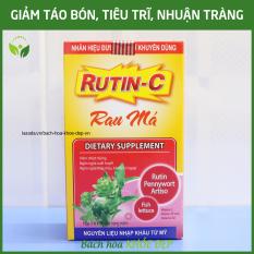 Viên uống Rutin C Rau Má giảm viêm nhiệt miệng, giảm táo bón, tiêu trĩ, nhuận tràng, thanh nhiệt cơ thể – Hộp 30 viên