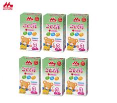 Combo 6 hộp Sữa Morinaga Số 3 Kodomil 216g/ hộp Cho Bé Từ 3 Tuổi – Hương dâu date 30.09.2021 (còn không tem đổi quà)