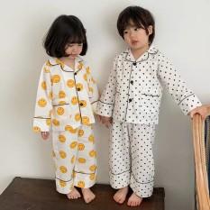 [ Babi mama ] Set Quần Áo Ngủ Trẻ Em Bộ Đồ Pijama Cho Bé Trai Bé Gái Dài Tay Thoáng Mát Size Từ 1-26kg – B23