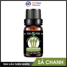 Tinh dầu Sả Chanh AROMA Pháp nguyên chất thiên nhiên, thanh lọc không khí thơm phòng đuổi muỗi, dầu thơm dưỡng tóc, Lemongrass