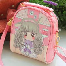 Túi xách đeo chéo công chúa cao cấp cho bé gái bằng da bóng sang trọng phối tone hồng nữ tính BBShine – TX036