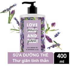 Sữa dưỡng thể dưỡng ẩm Love Beauty And Planet Soothe & Serene 400ml (tím)