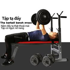ghế tập tạ đa năng ghế gập bụng ghê tập gym đa năng thiết bị thể thao có thể gấp gọn tiện lợi nhanh chóng màu đỏ đen mạnh mẽ Tops Market