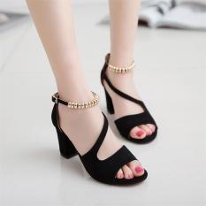 Giày cao gót nữ hở mũi gót vuông 7 cm