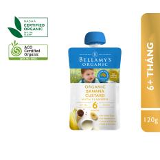 Hỗn Hợp Kem Sữa Chuối Với Hạt Lanh Hữu Cơ Bellamy's Organic