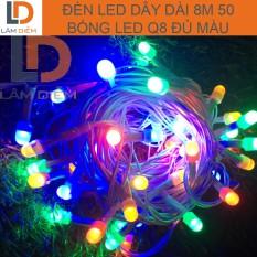 [Đón Noel Tết] Dây Đèn Nhấp Nháy 5m Nhiều Màu. Dây đèn nhiều màu cho bạn lựa chọn.Công suất : 1.8w đến 4,8w cho 1 bộ dây đèn
