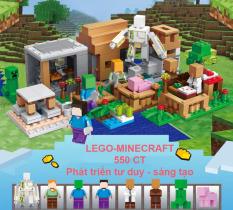Đồ Chơi Trẻ Em Xếp Hình Lego-Minecraft Sơn Trang, Thế Giới Yêu Thích Của Bé 550 Chi Tiết
