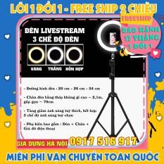 Đèn LiveStream 26cm Tặng Kèm Chân Đỡ & Kẹp Điện Thoại (Bảo hảnh 12 tháng)