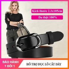 Thắt lưng nữ dây nịt dây lưng nữ cao cấp bản nhỏ 2.3cm chất liệu da thật, dễ phối đồ với các loại quần jean, váy, đầm NT168