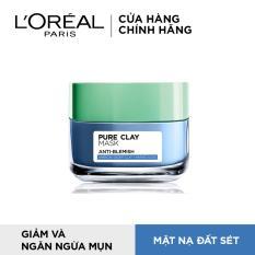 Mặt nạ đất sét ngăn ngừa và giảm mụn L'Oreal Paris Pure Clay Mask Anti-Blemish 50g