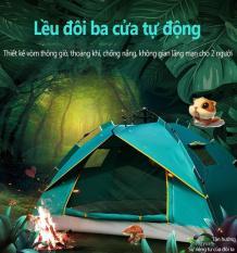 Hoàn toàn tự động bật lều với 2 cửa và 3 cửa sổ mở tự động, chuyên cho cắm trại du lịch dã ngoài, ngủ công viên, câu cá thú vị.