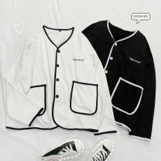 Áo Khoác Cardigan, Sweater, Jacket Uncover Nữ Nam Chất Thun Nỉ Ngoại Fool's Game Form Rộng Nút Cài