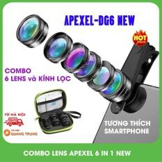 Bộ lensống kính Apexel 6 in 1dành cho điện thoại thông minh 2020, sản phẩm đa dạng về mẫu mã, kích cỡ, chất lượng đảm bảo, cam kết hàng giống vơi mô tả