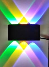 Đèn hắt tường trang trí 6 tia ánh sáng màu