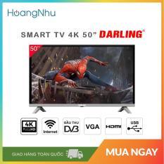 (Trả góp 0% lãi suất) Smart Tivi 4K Darling 50 inch Kết nối Internet Wifi 50UH960S (Màn hình UHD 4K, Android 7.0, Truyền hình KTS, màu đen) – Bảo hành toàn quốc 2 năm