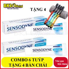 Combo 6 tuýp kem đánh răng Sensodyne tặng kèm 4 bàn chải đánh răng (GIAO MÀU NGẪU NHIÊN)