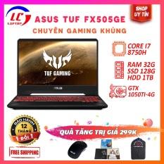 Laptop Gaming Giá Rẻ Viền Mỏng Asus TUF Gaming FX505GE Chip 12 Luồng, i7-8750H, VGA NVIDIA GTX 1050Ti-4G, Màn 15.6 FullHD IPS, LaptopLC298