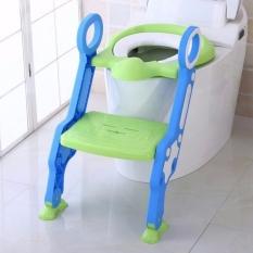 Dụng cụ thu nhỏ bồn cầu có cầu thang gọn nhẹ, tiện lợi, an toàn cho bé, giúp bé tự đi vệ sinh
