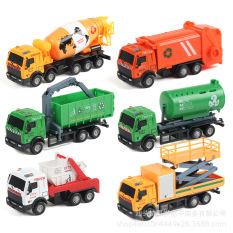 Hộp 3 xe ô tô môi trường, xe chở rác, xe chở nước, mô hình đồ chơi ô tô cho bé sáng tạo