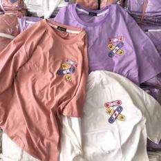 Áo phông áo thun nam nữ form rộng tay lỡ Unisex băng keo vui nhộn Từ 50 -70kg Chất liệu tici cao cấp Thiết kế hợp thời trang