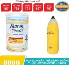 [TẶNG GỐI ÔM CHO BÉ] Nutren Junior 800g. Hỗ trợ tăng cân hiệu quả. Sữa chính hãng Nestlé Thụy Sĩ.