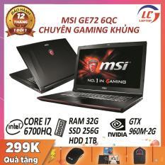 Laptop Gaming Giá Rẻ, Laptop Game Cấu Hình Cao MSI GE72 6QC, i7-6700HQ, VGA Rời Nvidia GTX 960M-2G, Màn 17.3 FullHD, Laptop Gaming