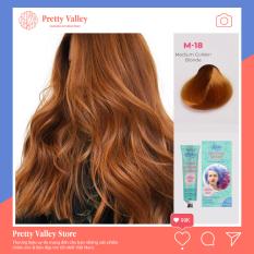 Kem nhuộm tóc cao cấp màu vàng nâu Medium Molokai 60ml [ TẶNG KÈM GĂNG TAY + CHAI OXY TRỢ DƯỠNG TÓC ]