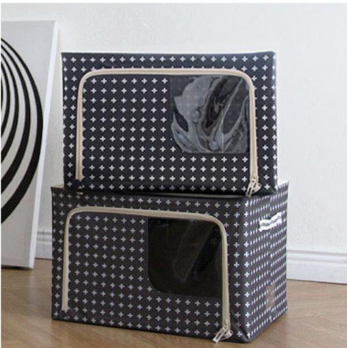 [HCM]Hộp đựng quần áo khung thép gấp gọn tiện ích 88 Lít – Túi đựng đồ đa năng Living box 88L