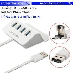 Hub chia USB / Micro USB ra 4 cổng USB 2.0 Kiêm USB OTG dùng cho máy tính và điện thoại